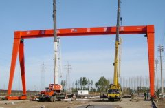 Mobile gantry cranes I-beam steel track