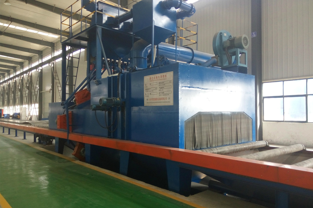 Shot Blasting Derusting Machine